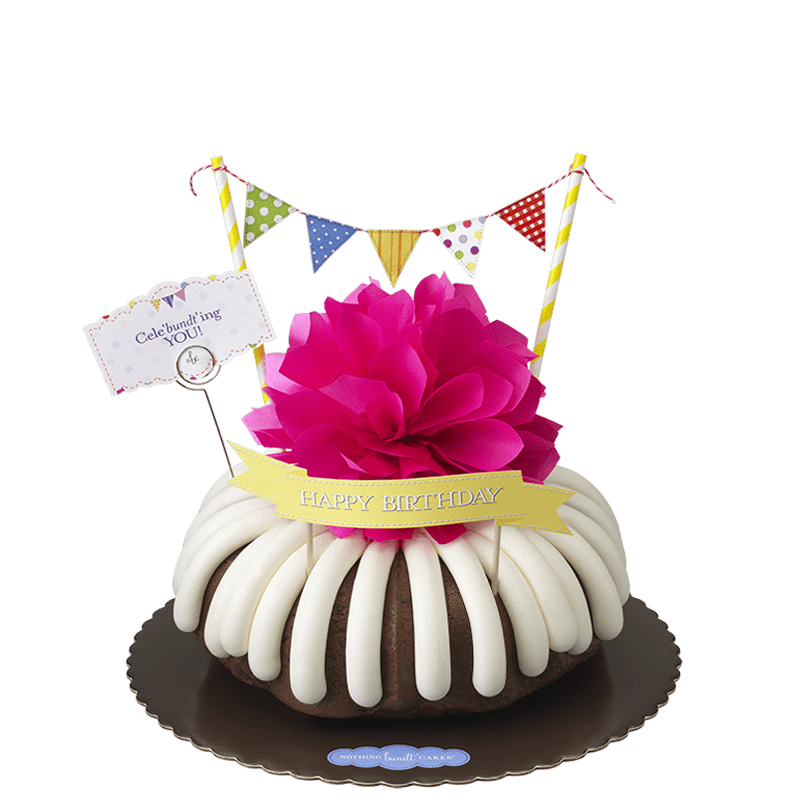 Cele'bundt'ing You with banner Bundt Cake
